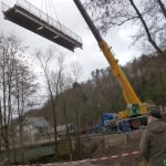 Die Brücke im Bau