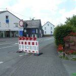 Ab hier ist die Kölner Straße gesperrt
